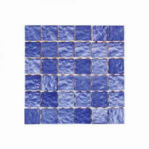 Ripple Face Blue Mosaic Feature Tile 306x306mm