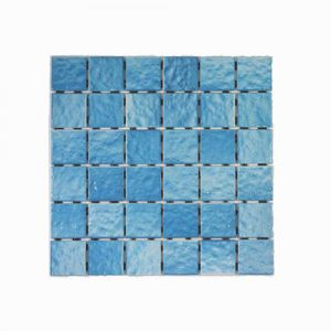 Ripple Face Teal Mosaic Feature Tile 306x306mm
