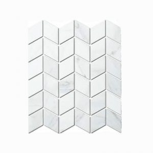 Carrara Rhombus Mosaic Feature Tile 280x266mm