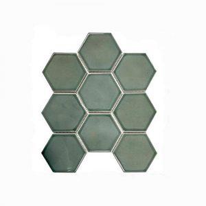 Hexagon Water Green Feature Tile 256x295mm