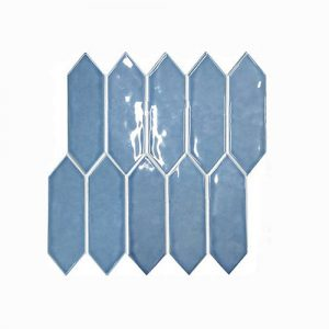 Arrow Head Mid Blue Feature Tile 292x324mm