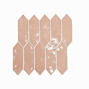 Arrow Head Pink Feature Tile 292x324mm