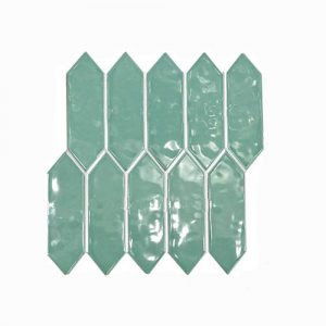 Arrow Head Green Feature Tile 292x324mm