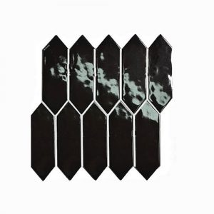 Arrow Head Black Gloss Feature Tile 292x342mm