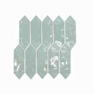 Arrow Head Light Green Feature Tile 292x324mm