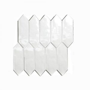 Arrow Head White Gloss Feature TIle 292x234mm