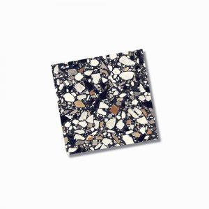 Fragment Macro Nero Floor Tile 200x200mm
