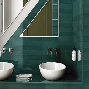 Casablanca Turquoise Gloss Wall Tile 242x580mm