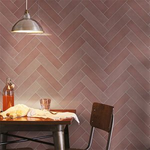 Casablanca Pink Gloss Wall Tile 242x580mm