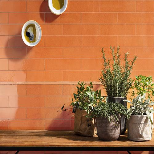 Casablanca Orange Gloss Wall Tile 242x580mm