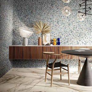 Fragment Macro Azzuro Floor Tile 200x200mm