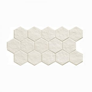 Muse Hex White Matt Floor Tile 265x510mm