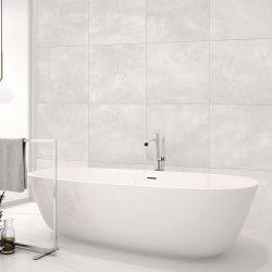 Kensington White Floor Tile 450x450mm