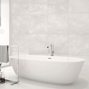Kensington White Floor Tile 450x450mm