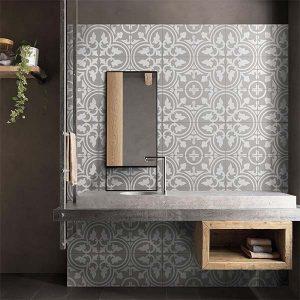 Picasso Shadow Grey Floor Tile 200x200mm