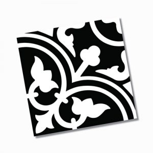 Picasso Shadow Black Floor Tile 200x200mm