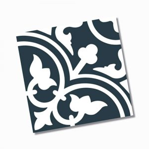 Picasso Shadow Navy Blue Floor Tile 200x200mm