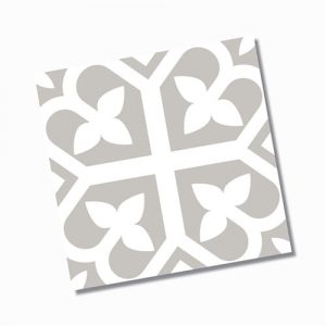 Picasso Bloom Grey Floor Tile 200x200mm
