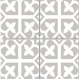 Picasso Bloom Grey Floor Tile 200x200mm