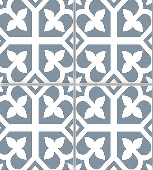 Picasso Baby Blue Floor Tile 200x200mm