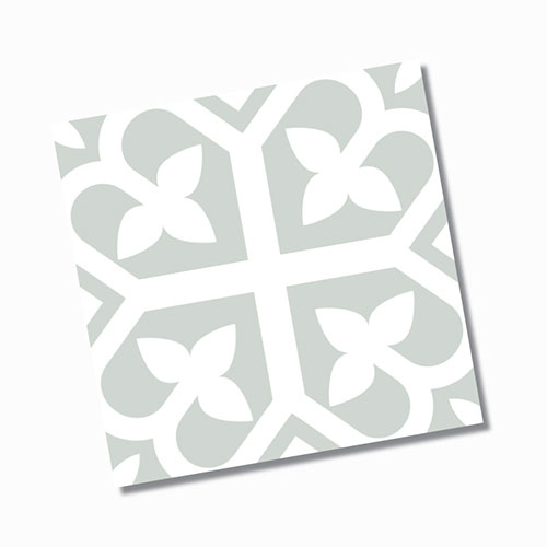 Picasso Bloom Pale Green Floor Tile 200x200mm