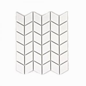 Rhombus White Gloss Mosaic Feature Tile 305x266mm
