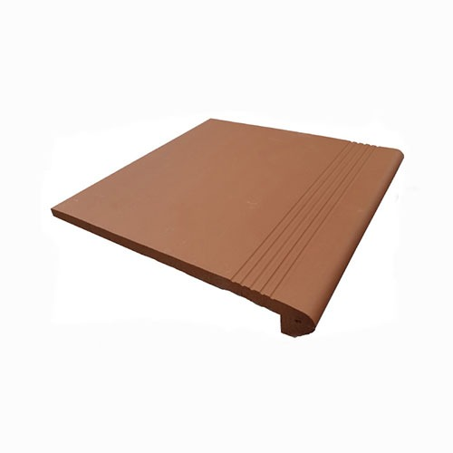 Alice Red Terracotta Bullnose Tile 300x300mm