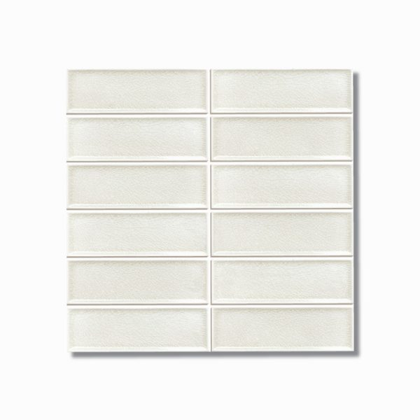 Frames Ivory Crackle Gloss Wall Tile 47x147mm