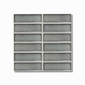 Frames Charcoal Crackle Gloss Wall Tile 47x147mm