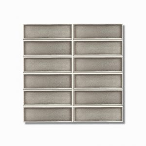 Frames Taupe Crackle Gloss Wall Tile 47x147mm