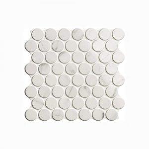 Circle Calacatta Glossy Interlocking Tile 309x309mm