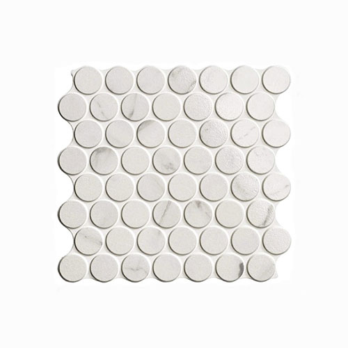 Circle Calacatta Glossy Interlocking Tile 309x309mm