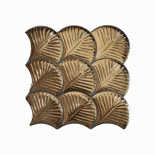 Scale Shell Gold Interlocking Tile 307x307mm