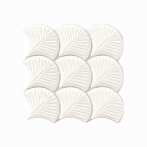 Scale Shell White Interlocking Tile 307x307mm