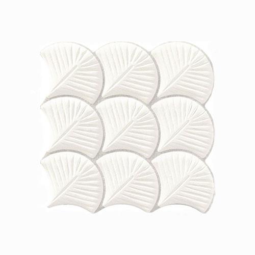 Scale Shell White Interlocking Tile 307x307mm