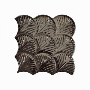 Scale Shell Anthracite Interlocking Tile 307x307mm