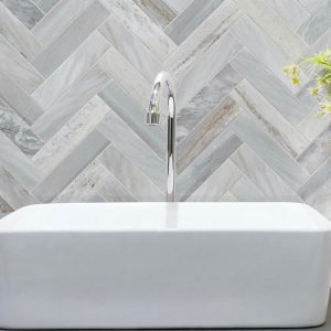 Blue Sandstone Herringbone Mosaic Tile 215x263mm