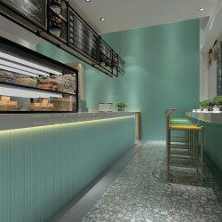 Flute Mint Grey Gloss Wall Tile 110x600mm