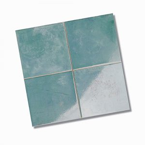 Zellige Aqua Gloss Floor Tile 333x333mm