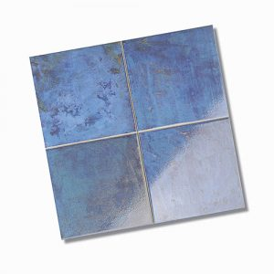 Zellige Azure Gloss Floor Tile 333x333mm