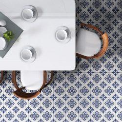 Avon Blue Matt Floor Tile 200x200mm