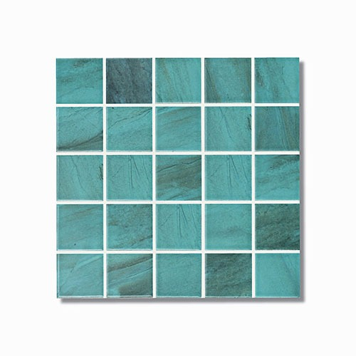 Carrera Green Pool Mosaic 300x300mm sheet