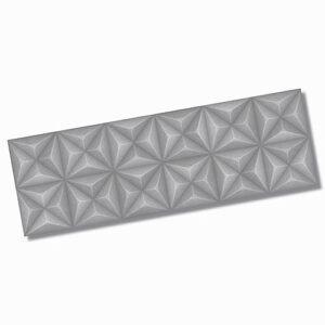 Sensorial Diamond Grey Matt Wall Tile 320x1000mm
