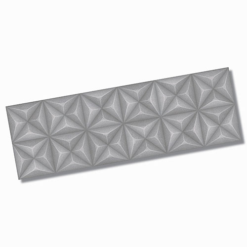 Sensorial Diamond Grey Matt Wall Tile 320x1000mm