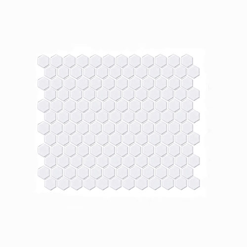 White Matt Hexagon Mosaic Tile 23x23mm
