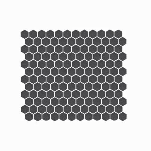 Black Matt Hexagon Mosaic Tile 23x23mm