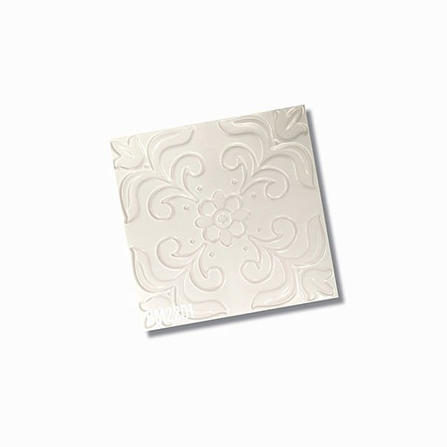 Bespoke White Lace Wall Tile 200x200mm