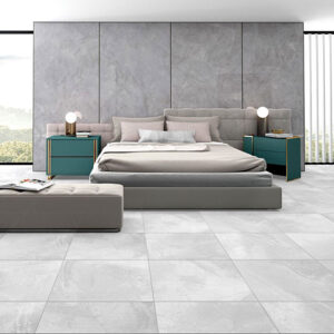 Zeus White Matt Floor Tile 600x600mm
