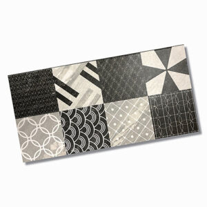 Malia Charcoal Pattern Matt Floor Tile 300x600mm