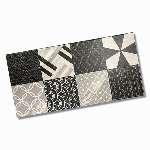 Malia Charcoal Pattern Matt Floor Tile 300x600mm